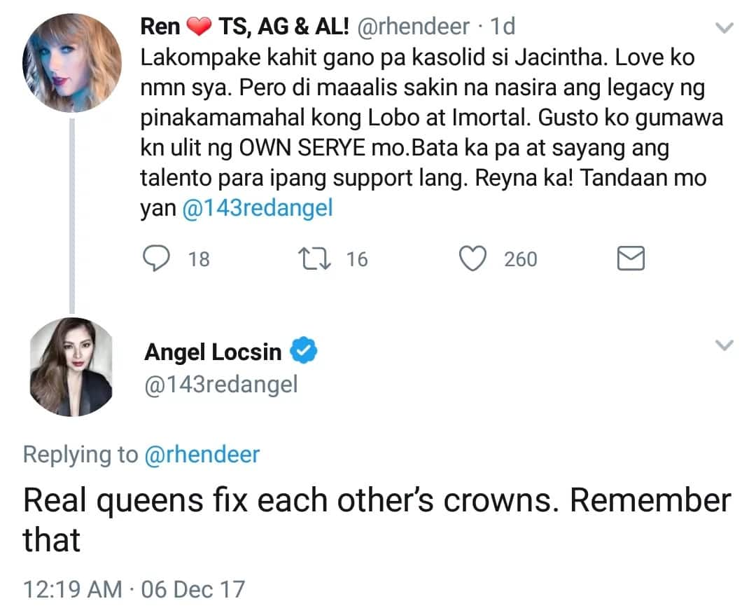 Angel Locsin definitely knows how to respond to her critique with class