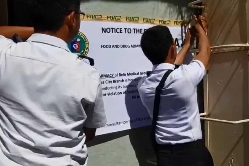 Belo Medical Clinic 'botika' alleged padlocked by FDA