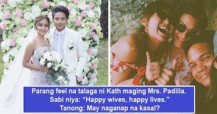 Mrs. Padilla na talaga bet niya! Kathryn Bernardo tags herself as a 'happy wife' and many netizens feel kilig much