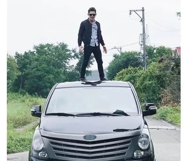 Kapamilya actor Ahron Villena suffered a terrifying accident involving a truck along C5 road