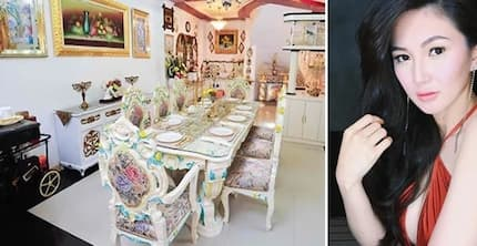 Sheena Halili's kitchen and dining areas is every girly-girl's dream-come-true