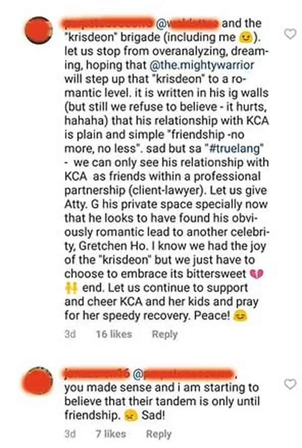 Netizen reveals lawyer-friend of Kris Aquino got the hots for Gretchen Ho, not for Krissy