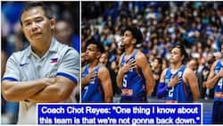 Head coach Chot Reyes defends Gilas Pilipinas after a brawl with Australia in the FIBA World Cup