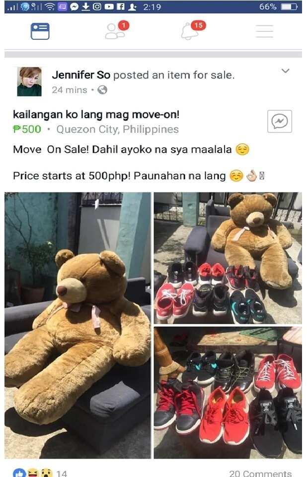 """""""Move on Sale,"""" Isinubasta ng babae ang regalo ng kanyang ex sa online"""