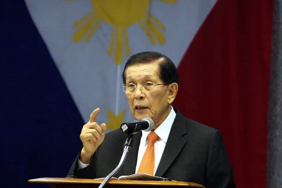 Juan Ponce Enrile seeks re-election in the Senate for 2019 polls