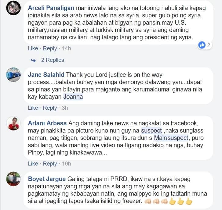 Dapat din daw iuntog sa pader! Filipinos expressed rage to arrested Mona Hassoun