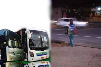 "Bus company defends Leni Robredo from detractors labeling the vice president's ""waiting for a bus"" picture fake"