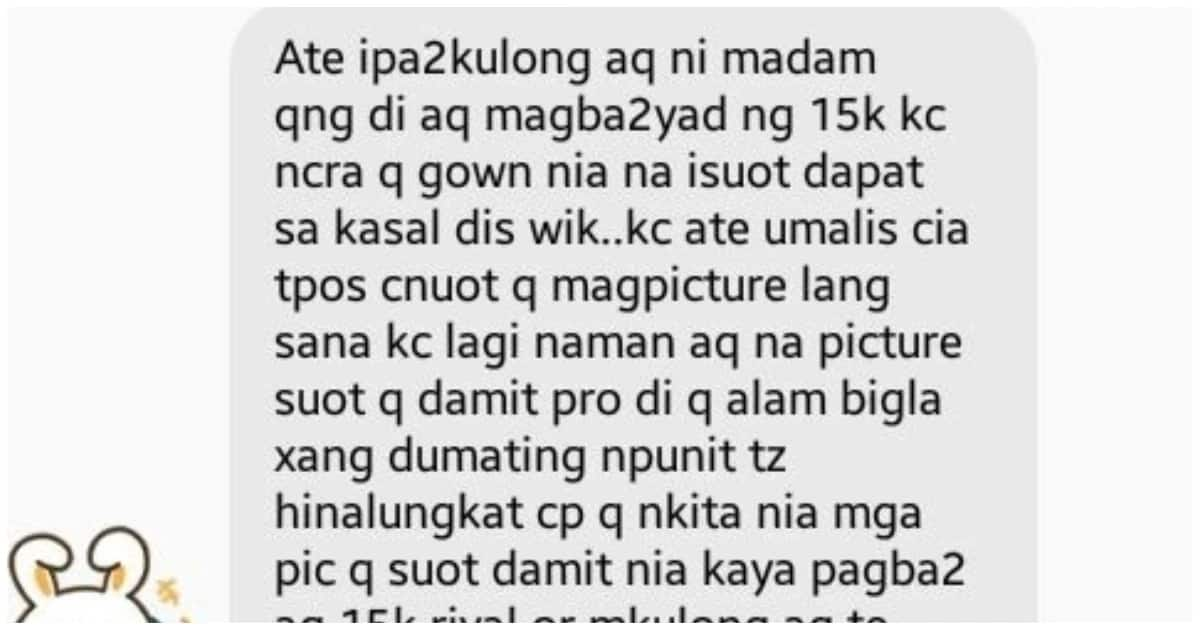 OFW, pinagbabayad ng P205k dahil sa nasirang damit ng employer na kanya palang sinukat