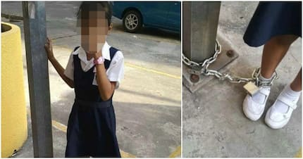 Insane Mom Chains 8-Year-Old Daughter to Lamp Post Only for Child's Play
