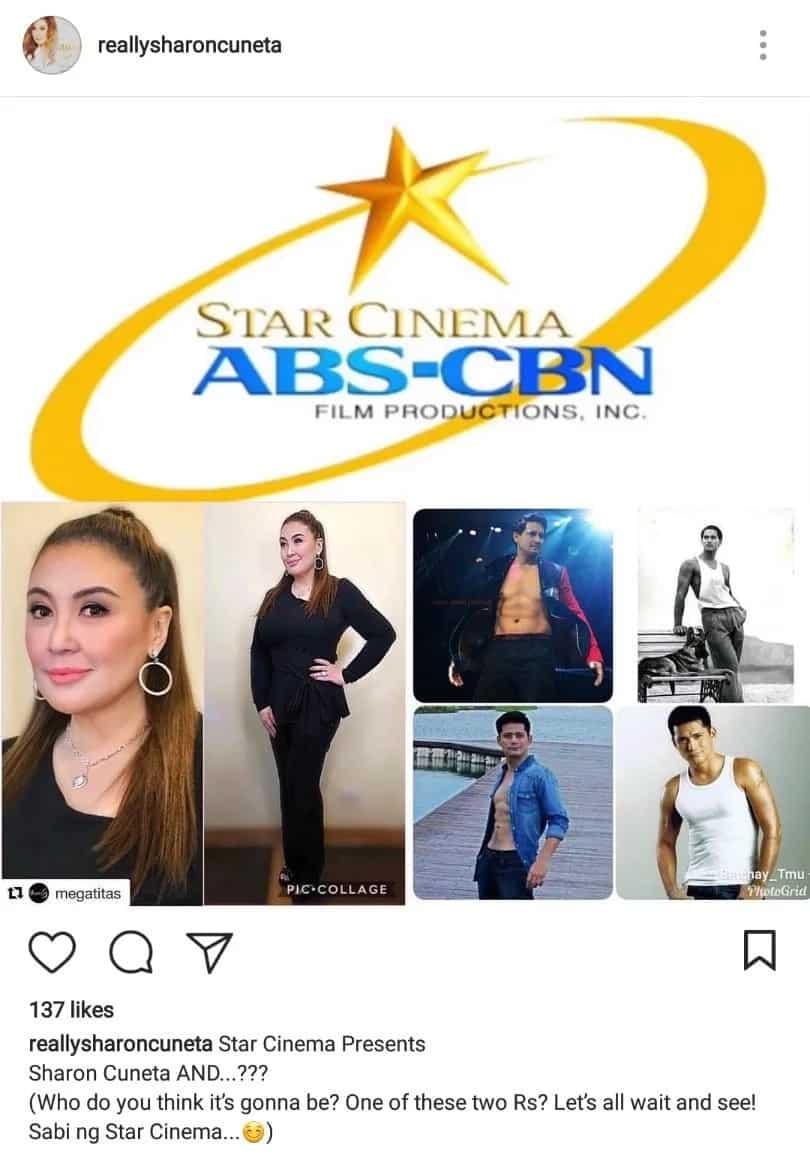 Sharon Cuneta humihingi ng payo sa followers kung si Richard Gomez o Robin Padilla ang magiging leading man niya