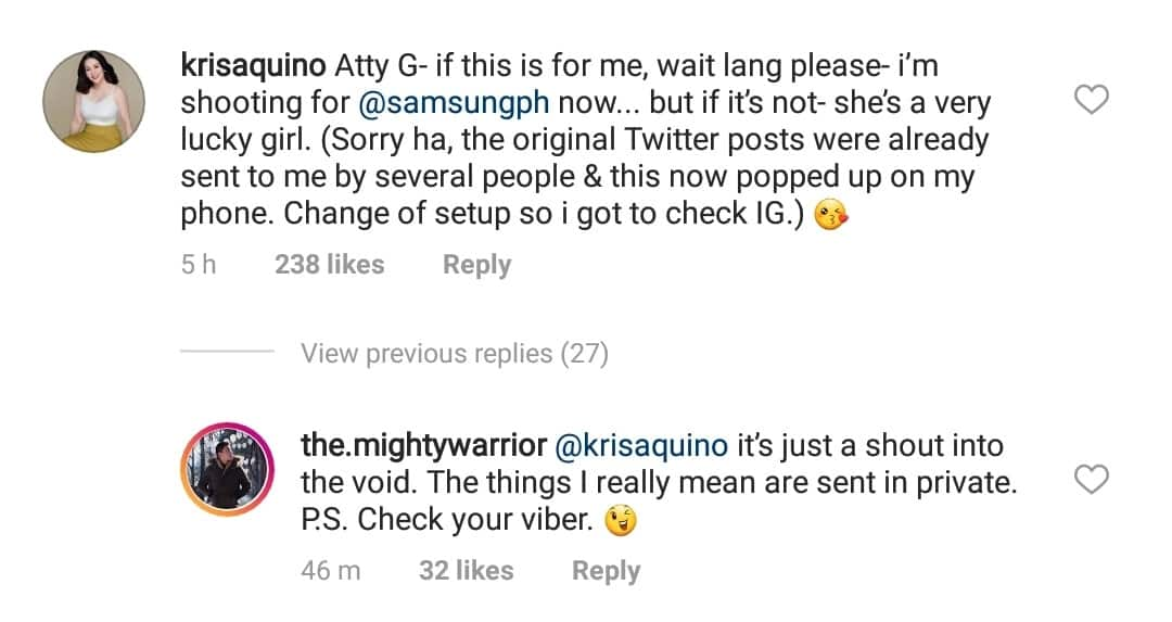 Bagong lovelife? Netizens, kinikilig kina Kris Aquino at Atty. Gideon Peña