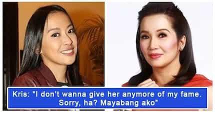 Hindi daw sila magka level! Kris Aquino, ayaw nang patulan si Mocha Uson