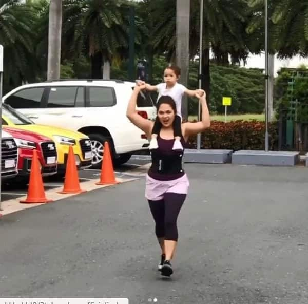 Judy Ann Santos starts year by working out with daughter Luna