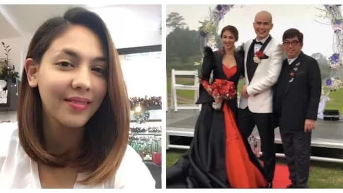 Lady in red ang drama! Kapuso actress Vaness del Moral weds non-showbiz boyfriend in red wedding gown