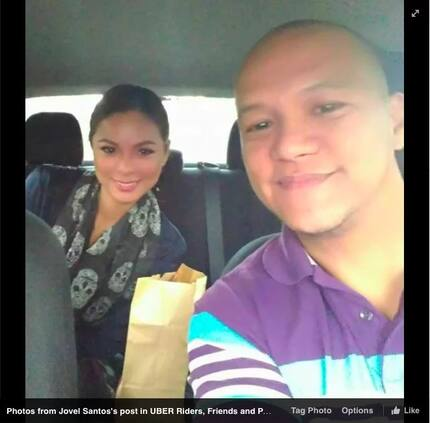Uber driver was honored to give Maxine Medina a ride