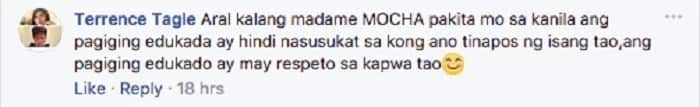 Mocha Uson proves that she is really focused and serious in taking up Law