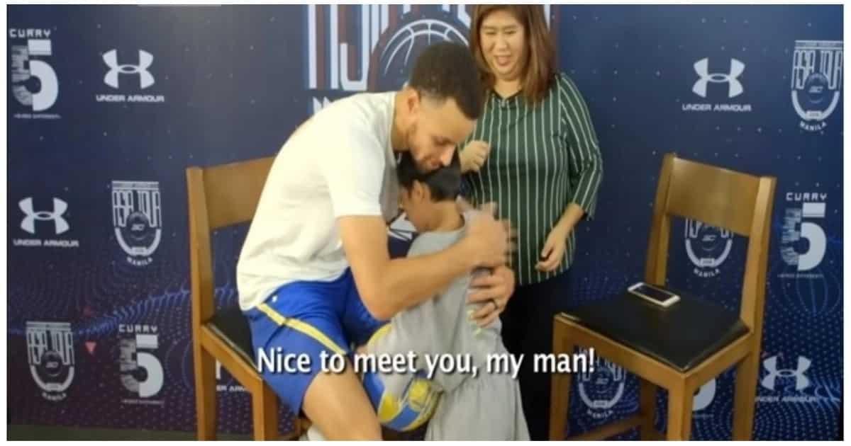 Batang tinaguriang 'Batang Steph Curry ng Pilipinas', naiyak nang ma-meet ang totoong Steph Curry