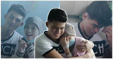Bumuhos ang luha ni Iñigo Pascual sa pagbisita sa isang fan na may leukemia