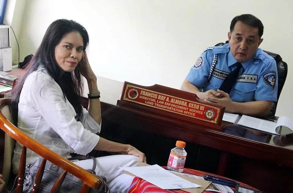 Maria Isabel Lopez presents herself to LTO; explains why she used the ASEAN lane