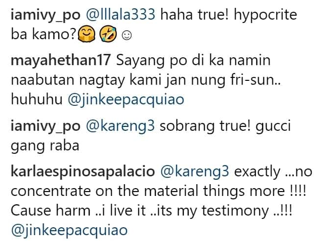 Kinuwestiyon ang pagiging Kristiyano! Jinkee Pacquiao binatikos dahil sa mga suot na mamahaling gamit