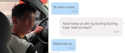 Passenger gets this reply from his Uber driver and he doesn't know what to reply