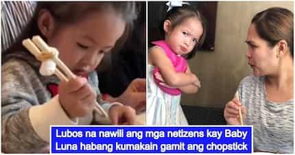 Sobrang cute! Baby Luna Agoncillo, ipinakita ang galing sa paggamit ng chopsticks