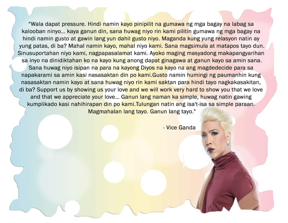 Vice Ganda says celebrities are sinking into depression because of pressure from fans