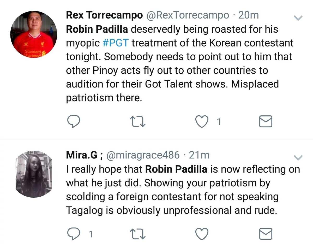 Tama bang mamahiya ng contestant? Netizens slam PGT judge Robin Padilla for his behavior towards Korean contestant