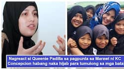 KC Concepcion in hijab goes to Marawi to feed children; Queenie Padilla shares her honest reaction