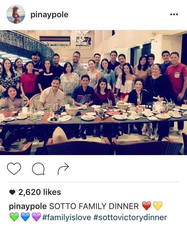 Tito Sotto rejoices with family