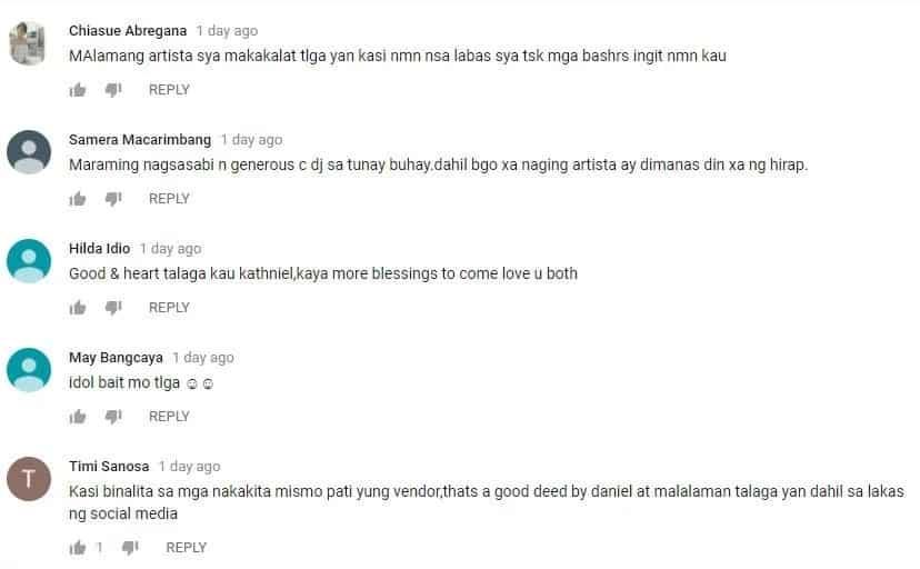 Netizens applaud Daniel Padilla for helping sampaguita vendor away from the cameras