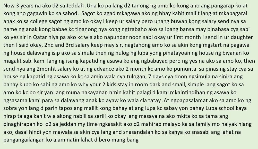 Basta para sa anak, lahat titiisin! An OFW mother in Jeddah shares the struggles of being away with your family