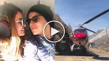 Ang sosyal! Sarah Lahbati and Richard Gutierrez ride a helicopter to tour Switzerland