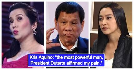 President Rodrigo Duterte, kampi pala kay Kris Aquino sa away nila ni Mocha Uson
