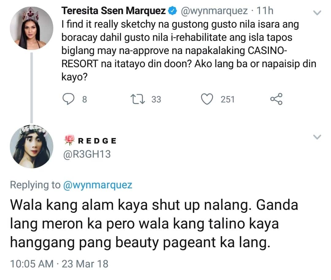 Shut up nalang daw sya! Wyn Marquez engages basher who underestimates her