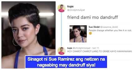Sue Ramirez, binash matapos sumagot sa netizen na nagsabing may balakubak ang buhok niya!