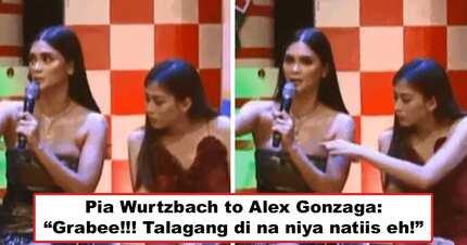 Walang silicone, totoo ang mga yan! Pia Wurtzbach's hilarious reaction after Alex Gonzaga intentionally pokes her huge 'panghinaharap' goes viral
