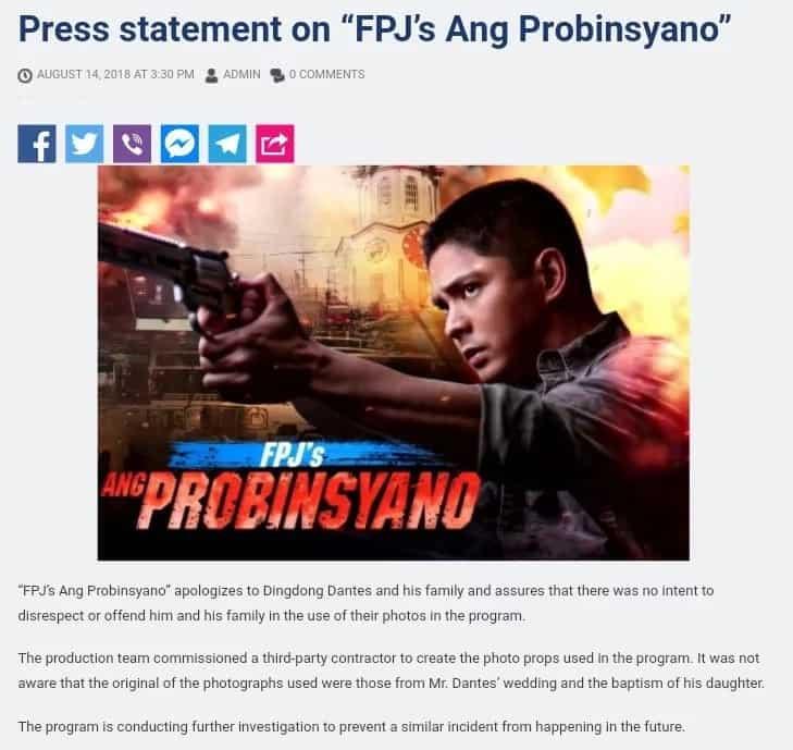 ABS-CBN nag-sorry kina Dingdong Dantes, ibinulgar sino may sala sa paggamit ng DongYan photos