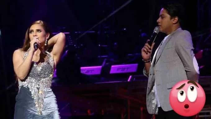 Daniel Padilla assists Vina on stage during wardrobe malfunction