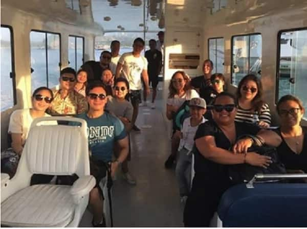 Nasa venue na rin sila! Erik Santos, Sarah Geronimo and Kyla are now in Boracay for Rachelle Ann Go's wedding