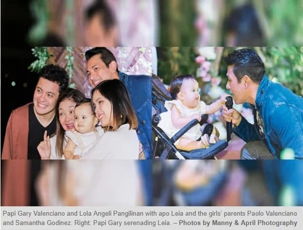 Papi Gary and Lola Angeli, proud grandparents of Leia who just turned 1
