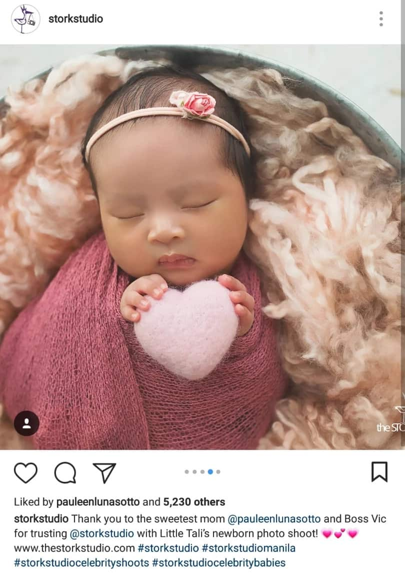 Adorable! Baby Talitha Sotto's first photoshoot makes netizens gush over her cuteness