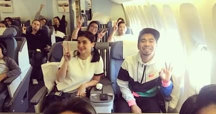 Pagod na pagod! Teddy Corpuz makes fun of Anne Curtis while she's sleeping in airplane