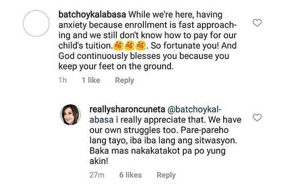 Hindi pinalampas! Sharon Cuneta, sinupalpal ang netizen na nagsabing pinagyayabang niya ang kanyang yaman