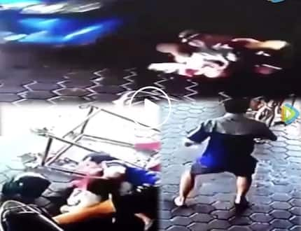 Heroic man saves two children from being crushed by car