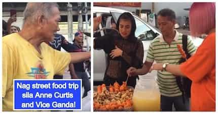 Swerteng lolo, binilhan ng street food at balut nila Anne Curtis at Vice Ganda!