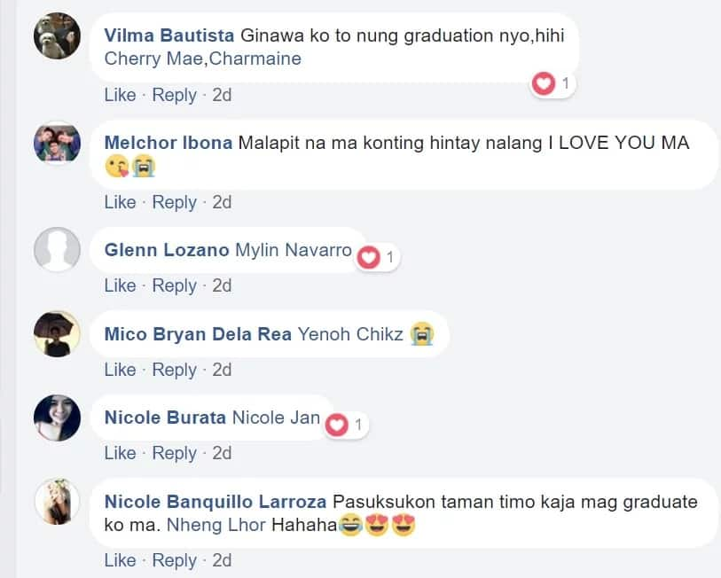 Pina experience sa ina! Son shares a picture of his mom wearing his toga