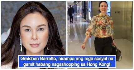 Sosyal talaga siya! Gretchen Barretto flaunts her giant pearls and Birkin when shopping in Hong Kong