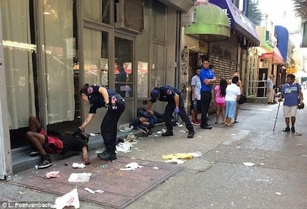 WATCH: This real-life Walking dead imitation filmed on New York street will alarm you