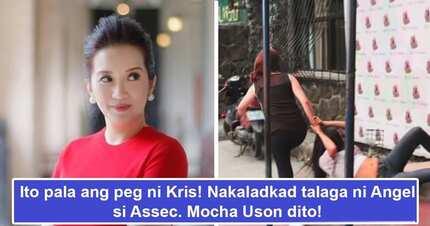 Angel Locsin ang peg! Kris Aquino handang sabunutan at kaladkarin si Mocha Uson tulad ng ginawa ni Angel sa pelikula
